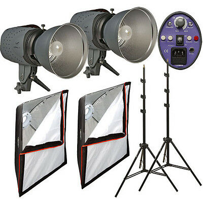 Impact Two Monolight Softbox Kit (120VAC) 600 Total Watt/Seconds