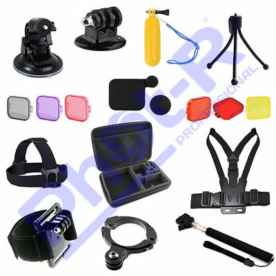 Phot-R Accessories Chest Head Strap Handle Mount Floaty Case Kit for GoPro 4 3+