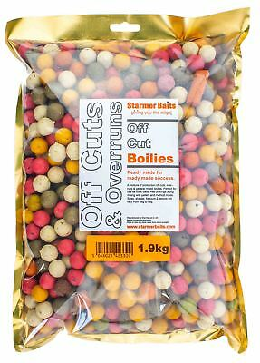 Carp fishing boilies mixed off cuts and over runs mixed sizes and colour 1.9kg