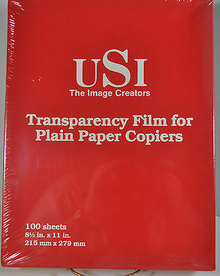 Usi-The Image Creators-Transparency Film For Plain Paper Copiers 100 Sheets/box