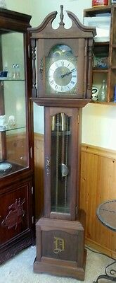 Vintage Emperor Jauch 77 Grandfather Clock Chimes Germany