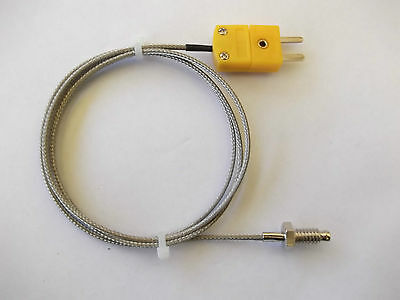 K TYPE SCREW ON THERMOCOUPLE SENSOR   -20~400deg C WITH  MINI CONNECTOR
