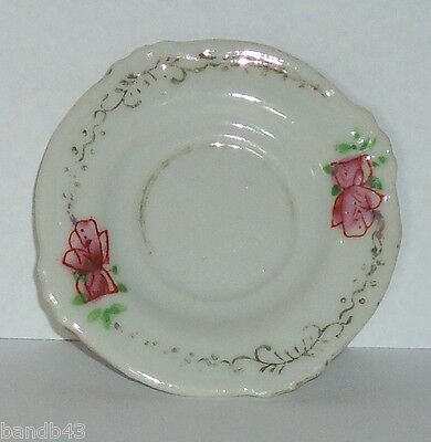 Vtg. Occupied Japan Demitassi CHINA SAUCER - ROSE & GOLD Collectible Home Decor