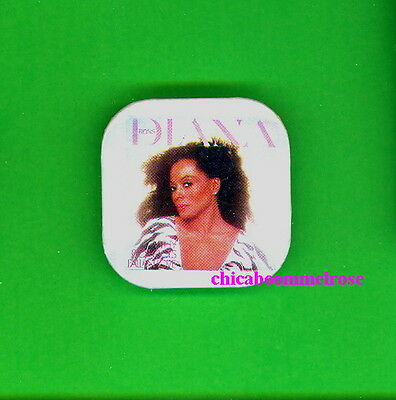 Diana Ross 1981 uk pinback button badge pin CC oct  Why Do Fools Fall in Love