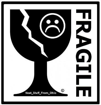 """""""fragile"""" Rubber Stamp - Internationally Recognized (And Little Humor Too)"""