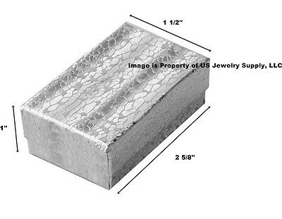 Wholesale 1000 Silver Cotton Fill Jewelry Packaging Gift Boxes 2 5/8 x 1 1/2 x 1