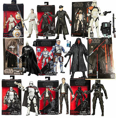 Figura Star Wars Black series Darth Vader BB-8 Rey Hux sandtrooper Darth Maul