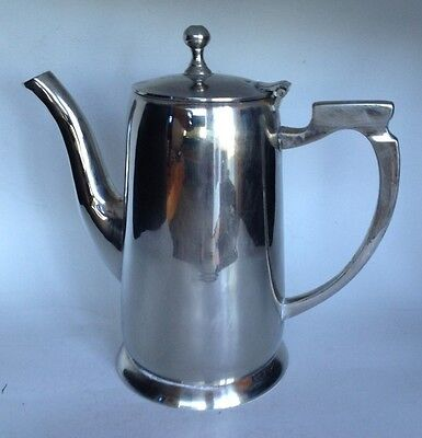 Silver Plate Coffee Or Tea Pot. Made In India.