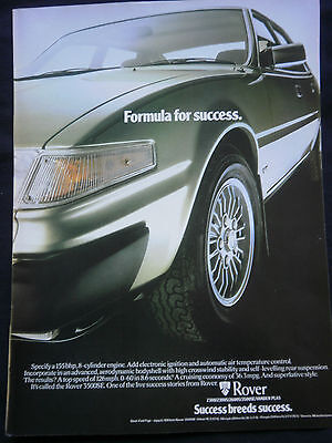 ROVER 3500SE V8 - 1 page COLOUR ADVERT