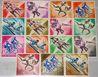 GUINEA 1963 164-78 279-90 C44-46 Sports Basektball Boxing Bicycling Running MNH