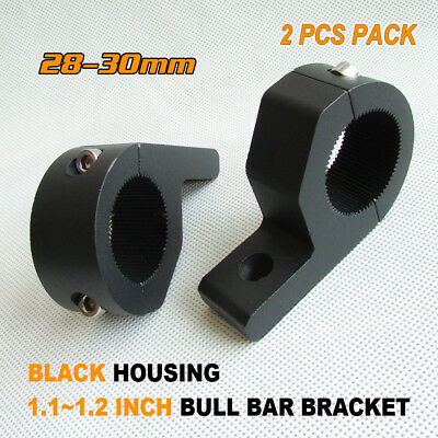 2x 28 MM-30MM BULLBAR ROOF RACK MOUNTING BRACKET TUBE CLAMP HID LED LIGHT BAR