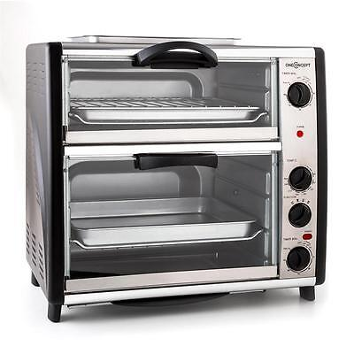New 2 Chamber Double Oven Barbeque Auto Grill Rotisserie * Free P&p Uk Offer *