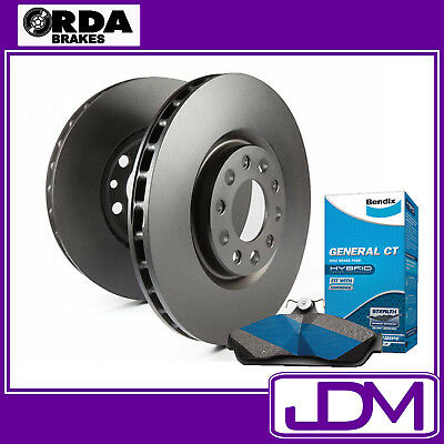 HOLDEN COMMODORE VE, VF V6 OMEGA, SV6 - RDA Rear Brake Disc Rotors & BENDIX Pads