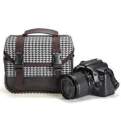 DSLR Camera Shoulder Messenger Case Bag for Canon Sony Nikon Pentax Olympus