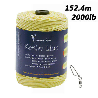 500ft 2000lb Braid Kevlar Line for Large Kite Flying Camping Fishing Outdoor