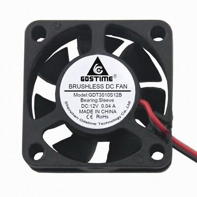 Small Brushless DC Cooling Fan 12V 30mm 3cm 30x30x10mm 3010S 2Pin 7 Blades New