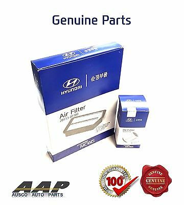 Genuine Hyundai Santa Fe Cm,dm Diesel Filter Kit (Air+Oil) With Tax Invoice