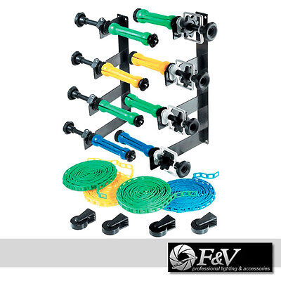 Wall / ceiling - Permanent Multiple Background Support System 4 rollers