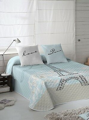 TORRE EIFFEL Colcha Bouti multipunto Cama  /Single Bedding Quilt Bed Bedspread