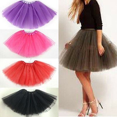 Women/Adult Dancewear Tutu Pettiskirt Princess Party Skirts Mini Dress Skirt Red