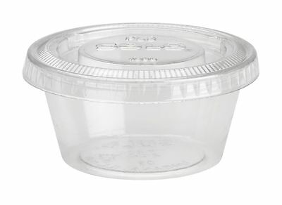 2oz Plastic Jello Shot Cups with Lids - 250ct Disposable & Easy to Transport
