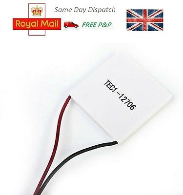12V 60W TEC1-12706 Heatsink Thermoelectric Cooler Peltier Cool Plate Module UK