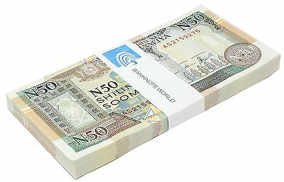 Somalia 50 Shillings X 50 Pieces (PCS), 1991, P-PR2, UNC, Half Bundle, Pack