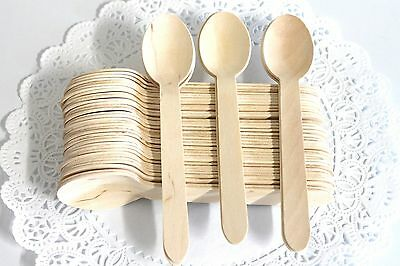 Heavy Weight 50 Disposable Natural Wooden Spoons