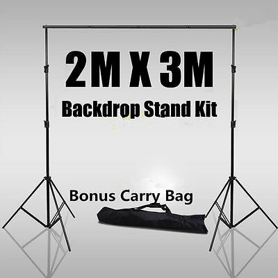 Photo Video Studio Backdrop Photography Background Support Stand Frame 2*3M