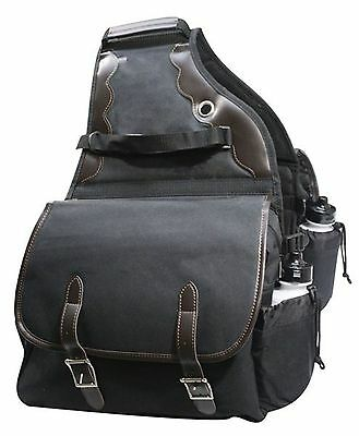 BLACK Denier Deluxe Insulated Western Saddle Bag Trail Riding Camping NEW TACK