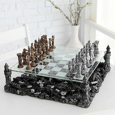 New 3D Detailed Luxury Chess Set Table Game Decoration Indoor/Outdoor