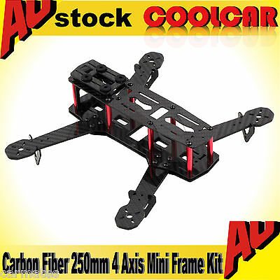 3K Glass Carbon Fiber 250mm 4 Axis Mini FPV Quadcopter Mulitcopter Frame Kit AU