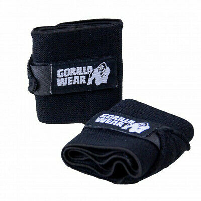 Gorilla Wear Wrist Wraps Basic Black Handgelenkbandagen Fitness Bodybuilding