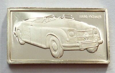 Classic Cars Rover 1950 Silver Proof Ingot Made from Franklin Mint !