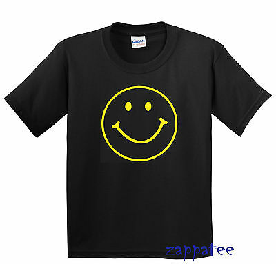 Children's Smiley Face T Shirt - Kids Boys or Girls Happy Smile Fun Tee