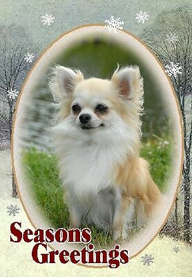 Chihuahua Dog A6 Christmas Card Design XCHIH-36 by paws2print