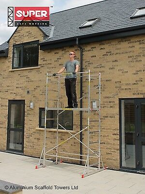 SUPER eDIY 4m Aluminium Scaffold Tower/Towers Free Next Day Delivery