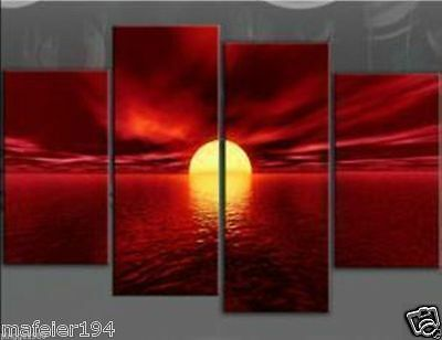 4pc MODERN ABSTRACT WALL DECOR ART CANVAS OIL PAINTING(NO frame)