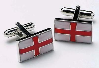 Mens St Georges Cross Flag Cufflinks & Gift Box By Onyx Art