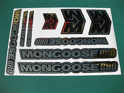 9 Mongoose Pro Stickers Various Colours Available