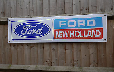 Ford New Holland tractor shed banner