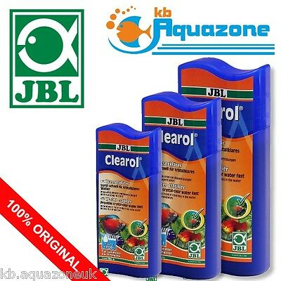 JBL CLEAROL 100ml 250ml 500ml * WATER CLARFIER * CRYSTAL * ORIGINAL