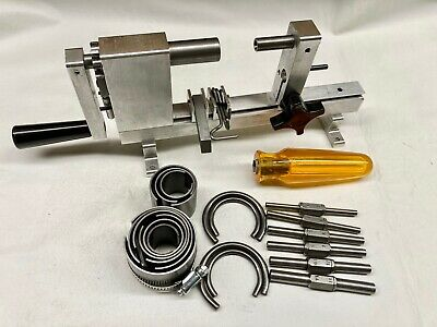 New Ollie Baker Style Clock Mainspring Winder with Let Down Tool and Clamps
