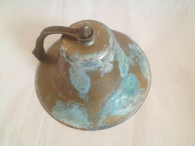 Large Vintage Brass Ship's Nautical Bell Perko ? Nice Aged Patina !!