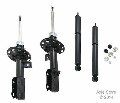 4 New Struts Shocks Full Set Fit Honda Fit Ltd Lifetime Warranty Free Shipping