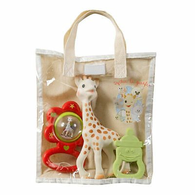 Sophie The Giraffe -Vanilla Scented Teether & Sophie Rattle In A  Gift  Bag