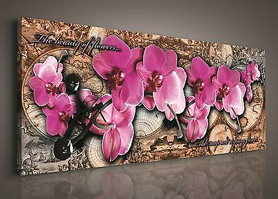 leinwand bild wandbild bilder pp423o1 orchideen blumen blume 100x75cm eur 24 00 picclick de. Black Bedroom Furniture Sets. Home Design Ideas