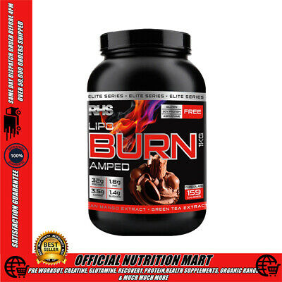 RHS LIPO BURN AMPED 1kg - THERMOGENIC PROTEIN WITH GARCINIA + GREEN TEA