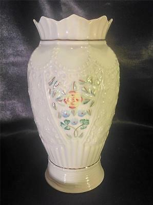 Belleek 10th Anniversary Limted Edition Numbered Nairn Vase with Gold Trim