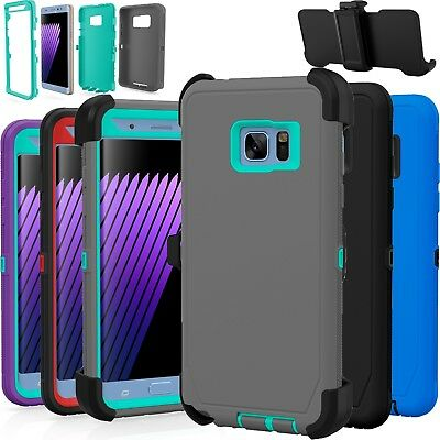 Samsung Galaxy Note 3 4 5 Case Shockproof Cover (Fits Otterbox Defender Clip)